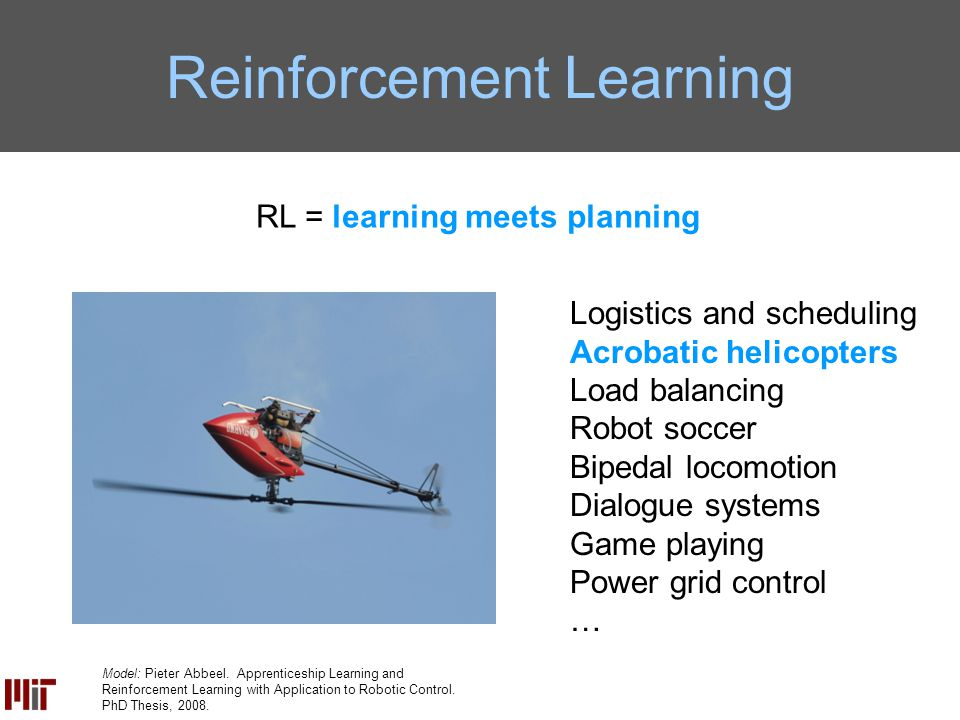 David Wingate Reinforcement Learning for Complex System