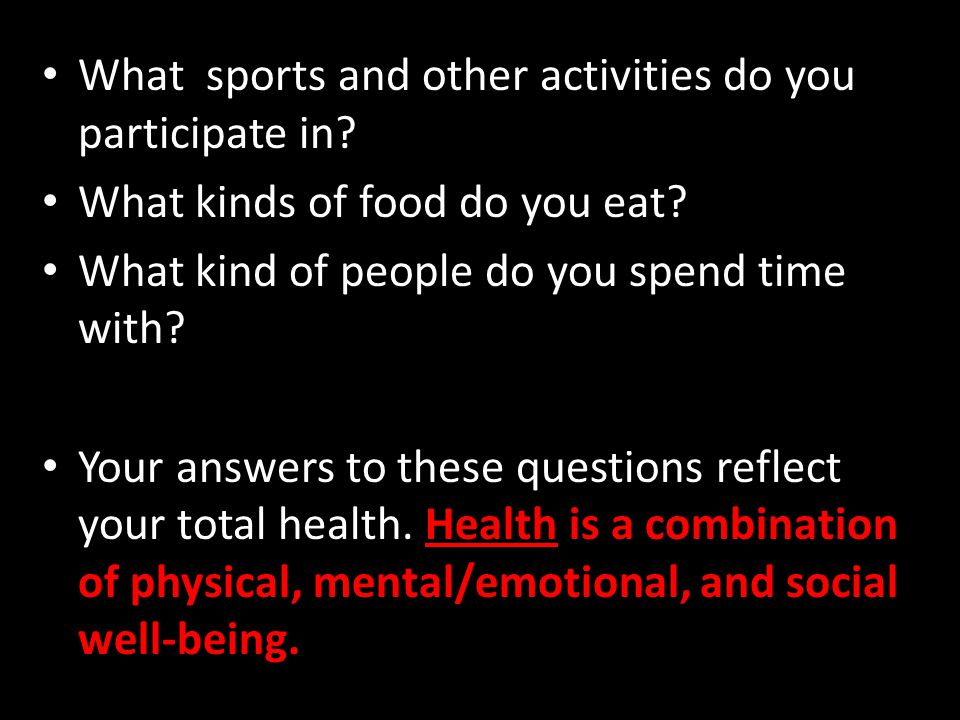 What sports and other activities do you participate in.