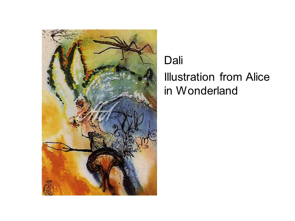 Dali Illustration from Alice in Wonderland