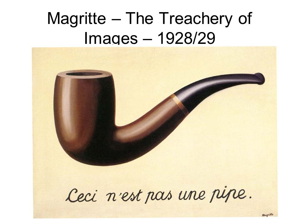 Magritte – The Treachery of Images – 1928/29