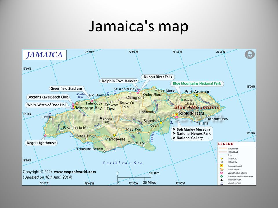 Jamaica by Cordell Dyous. Jamaica\'s map Jamaica\'s continent The ...