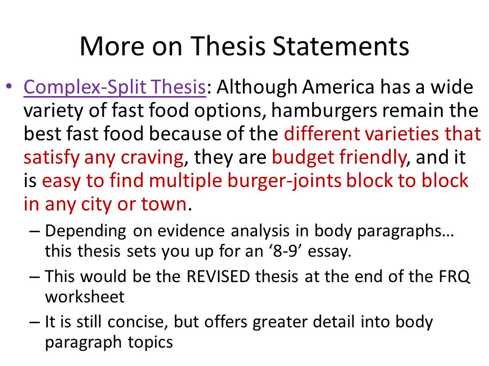complex thesis