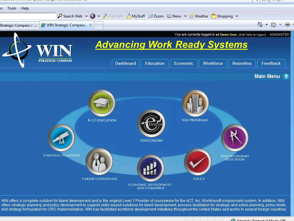 Advancing Work Ready Systems