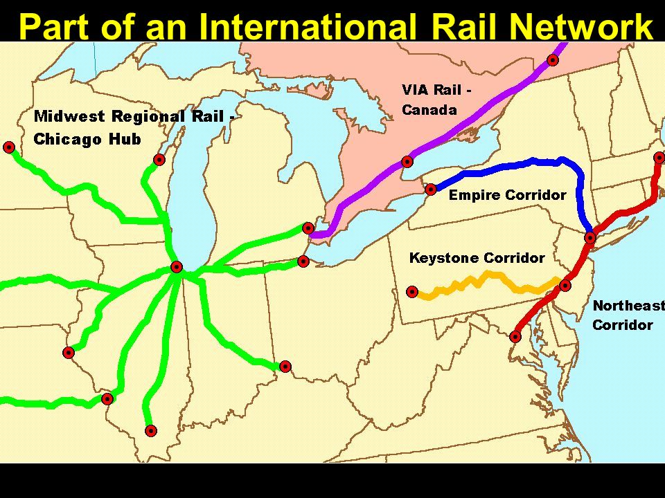 Part of an International Rail Network