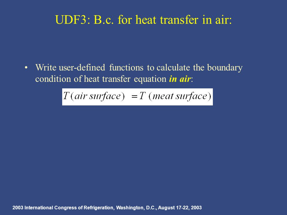 2003 International Congress of Refrigeration, Washington, D.C., August 17-22, 2003 UDF3: B.c.