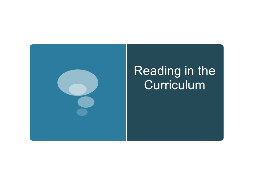 Reading in the Curriculum