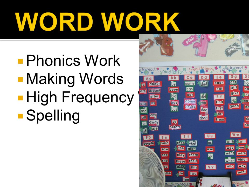  Phonics Work  Making Words  High Frequency Words  Spelling