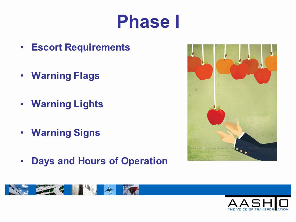 5 Phase I Escort Requirements Warning Flags Warning Lights Warning Signs Days And Hours Of Operation