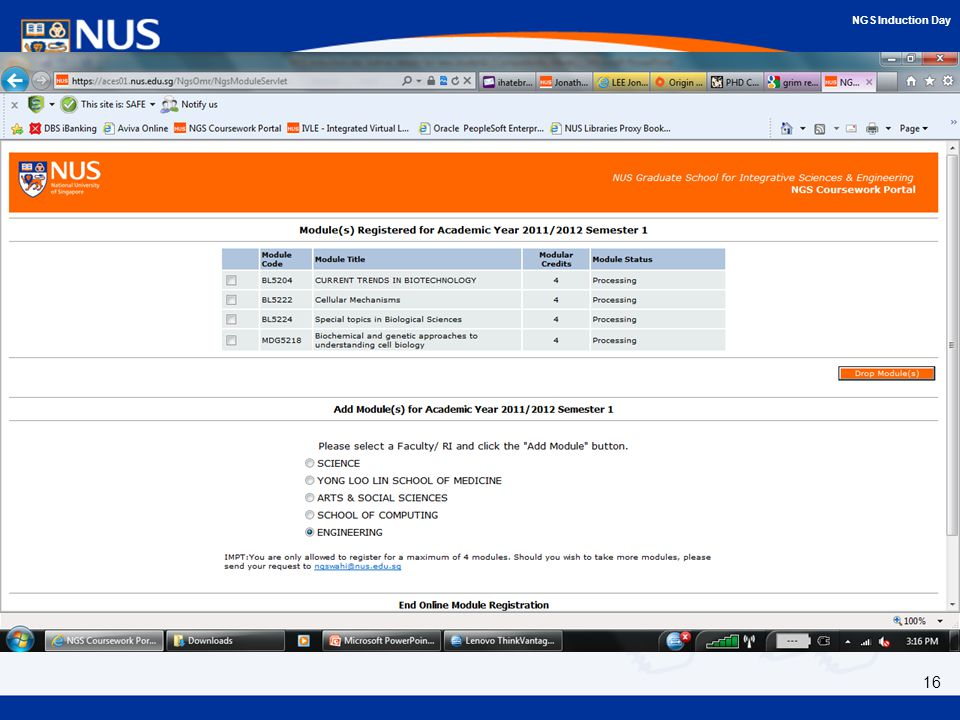 ngs coursework portal
