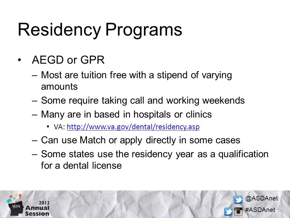Gpr programs dentistry