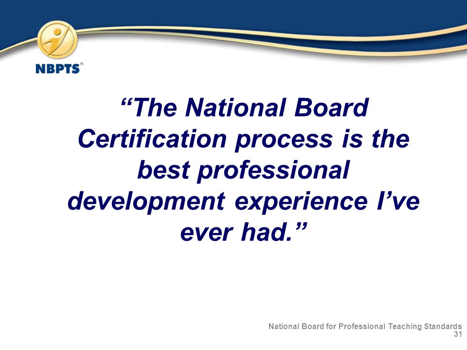 Choosing Excellence National Board Certification Ppt Download