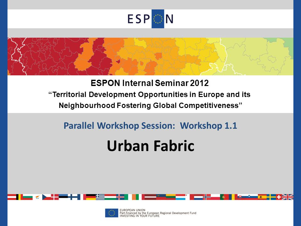 Parallel Workshop Session: Workshop 1.1 Urban Fabric ESPON Internal Seminar 2012 Territorial Development Opportunities in Europe and its Neighbourhood Fostering Global Competitiveness