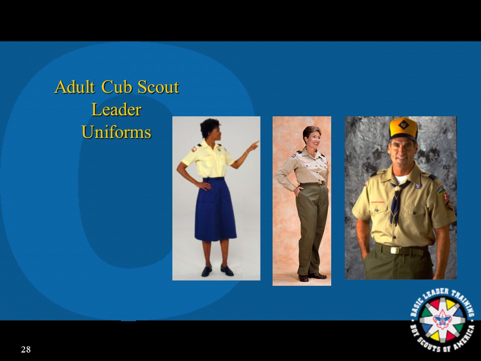 27 Cub Scout Uniforming  Sense of belonging  Recognition  Identification with Scouting