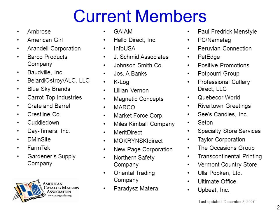 1 The U S  Catalog Mailing Industry – Today and Tomorrow