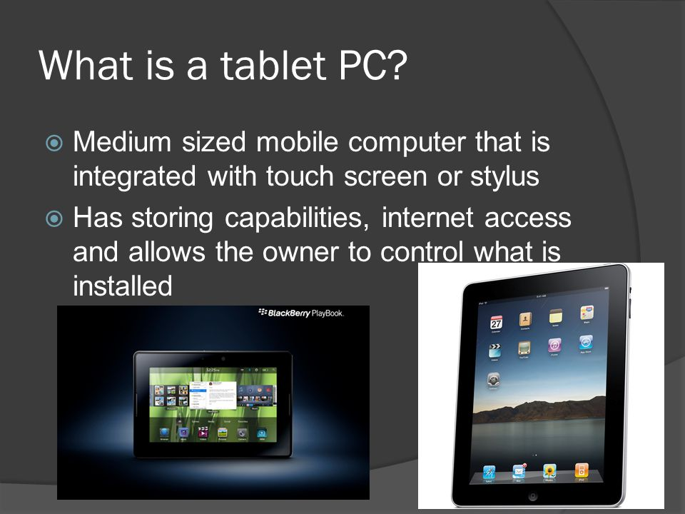 What is a tablet PC.
