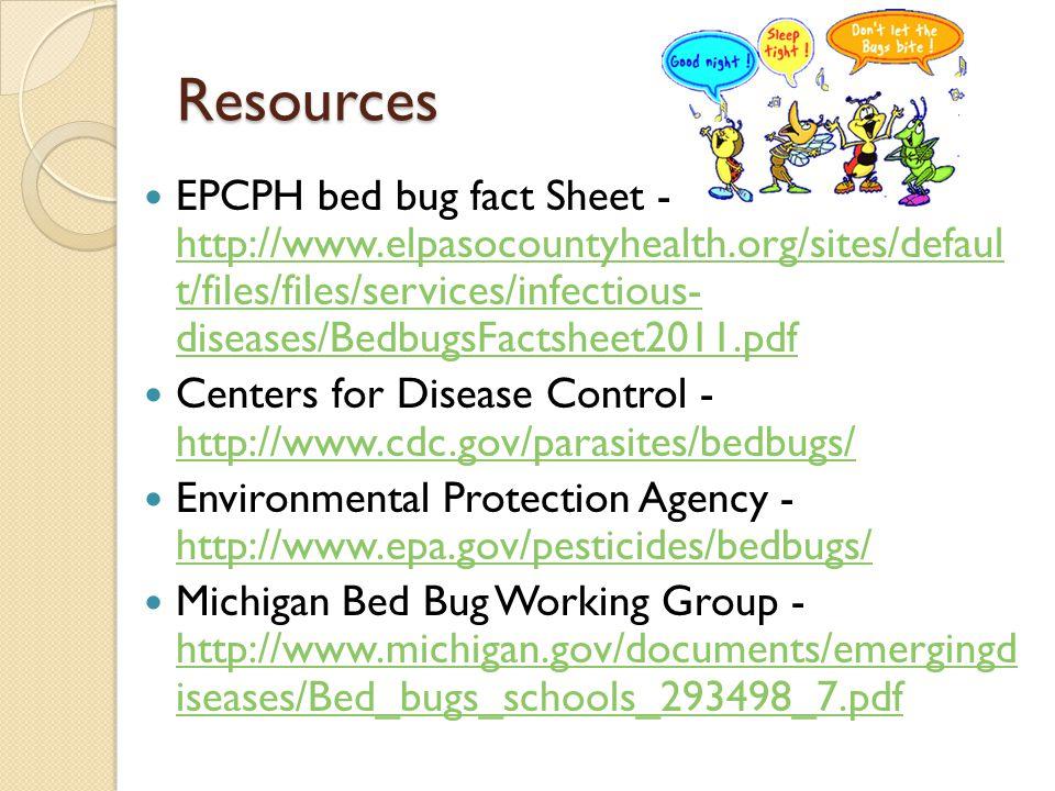 22 Resources EPCPH Bed Bug Fact Sheet ...