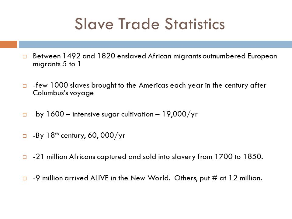 Slavery and the Health of African American Slaves  African