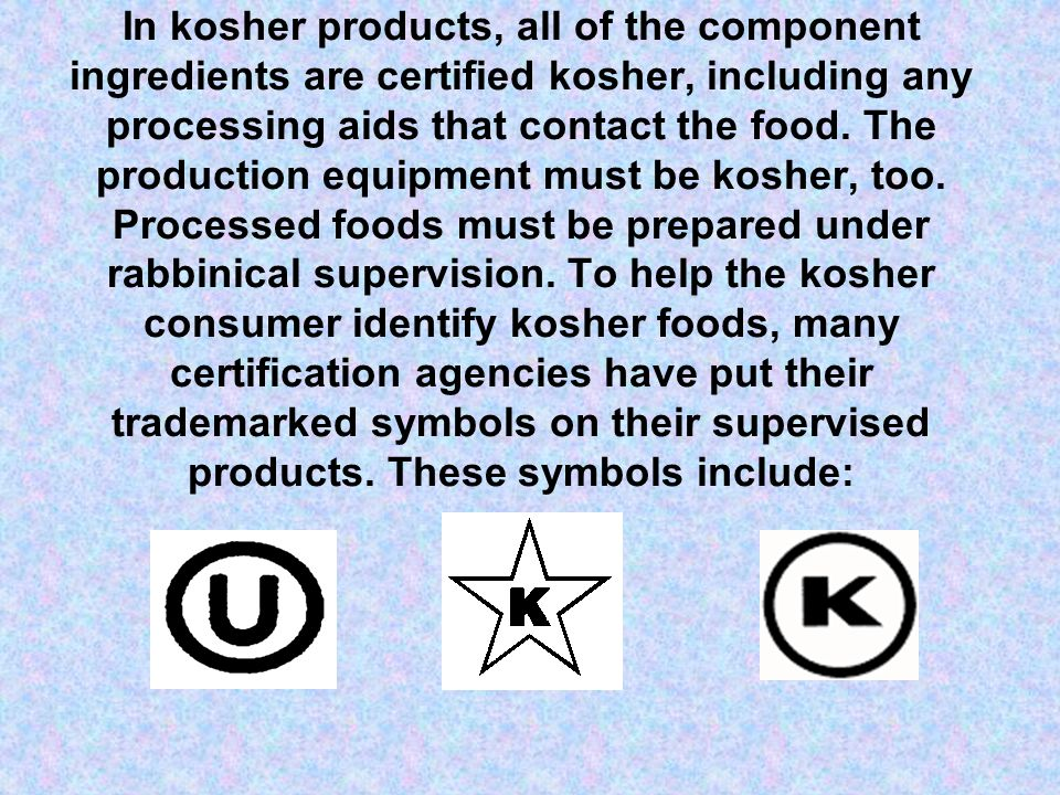 Kosher Basics A Guide For The Kosher Home Employee Presented By Star