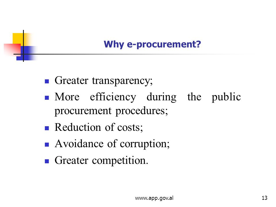 Why e-procurement.