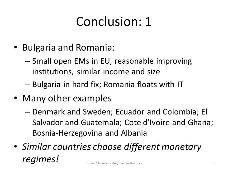 Surprising Similarities: Recent Monetary Regimes of Small Economies