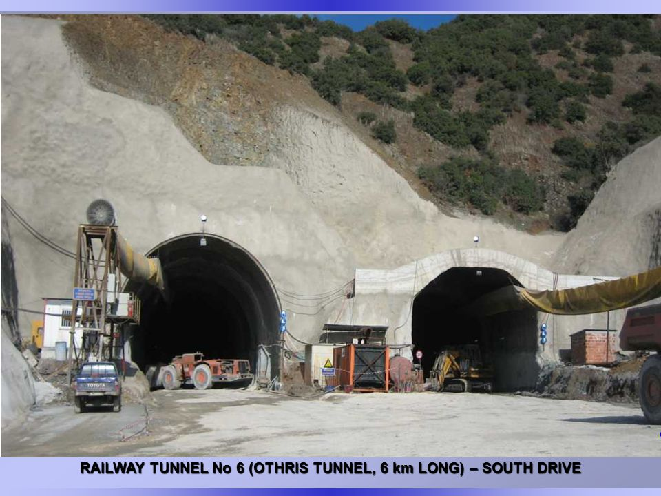 RAILWAY TUNNEL No 6 (OTHRIS TUNNEL, 6 km LONG) – SOUTH DRIVE