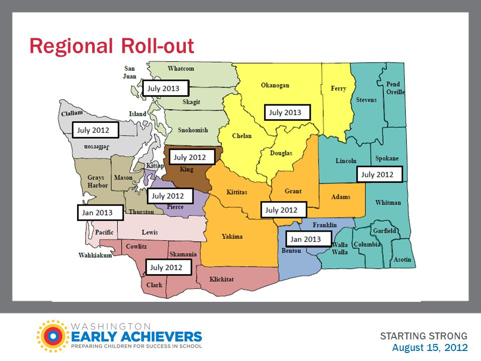 Regional Roll-out STARTING STRONG August 15, 2012