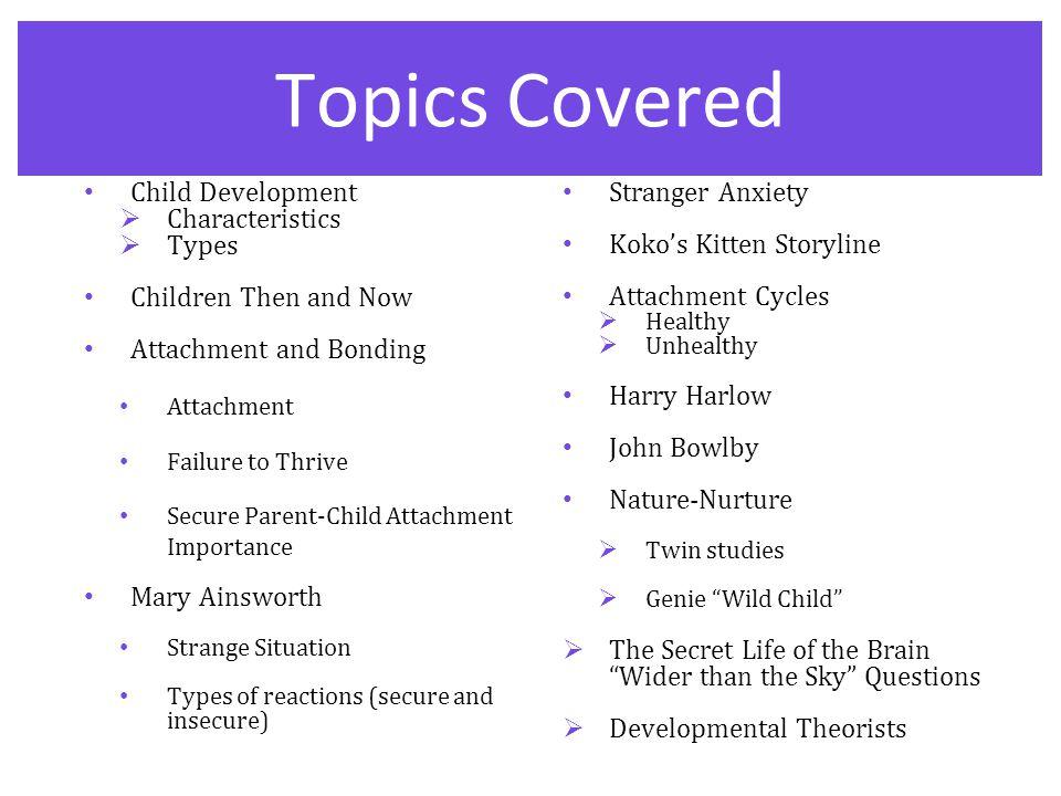 early childhood development topics