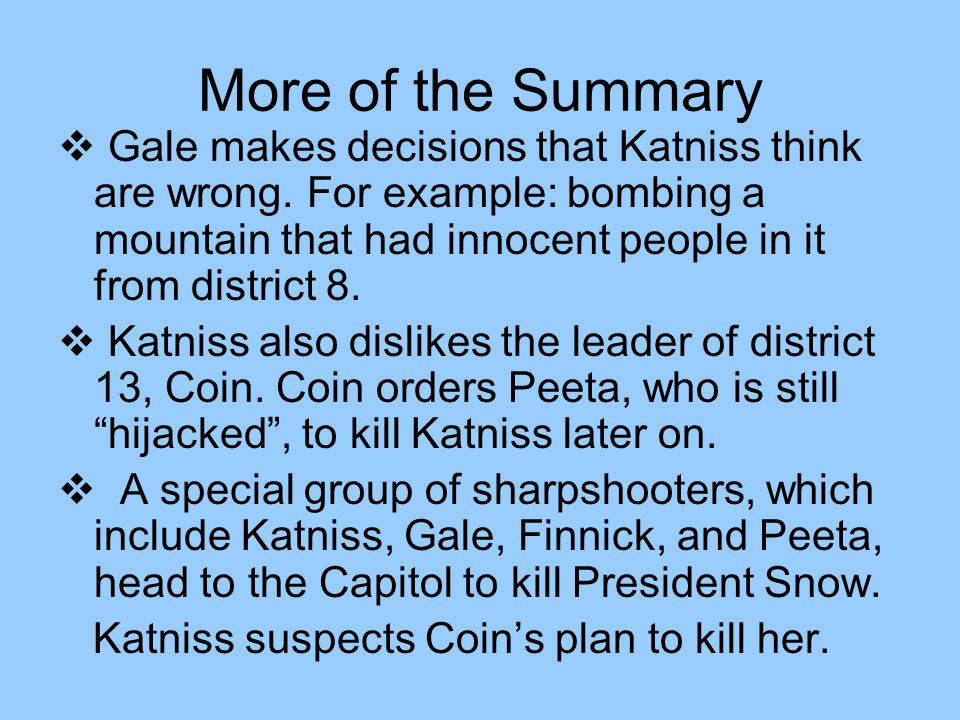mockingjay plot summary