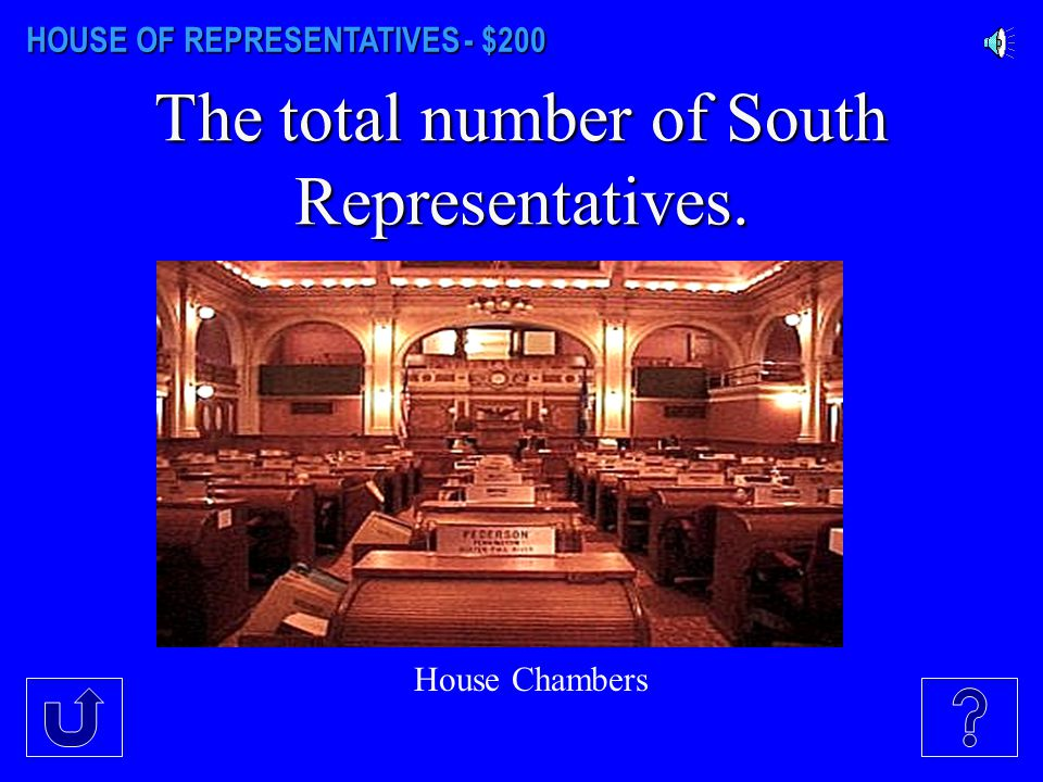 HOUSE OF REPRESENTATIVES - $100 The number of representatives from each district.