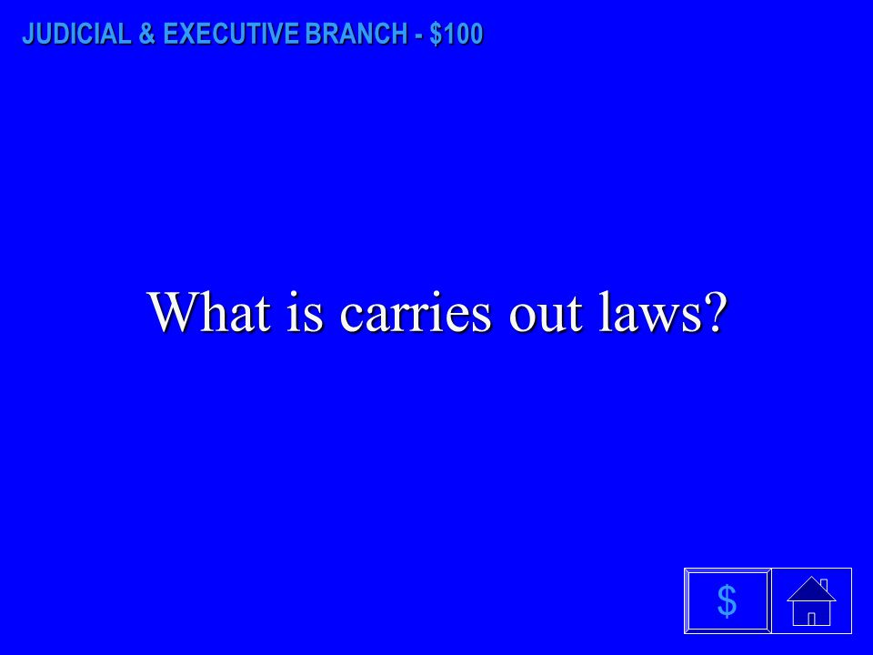 LEGISLATIVE BRANCH - $500 What is makes laws $
