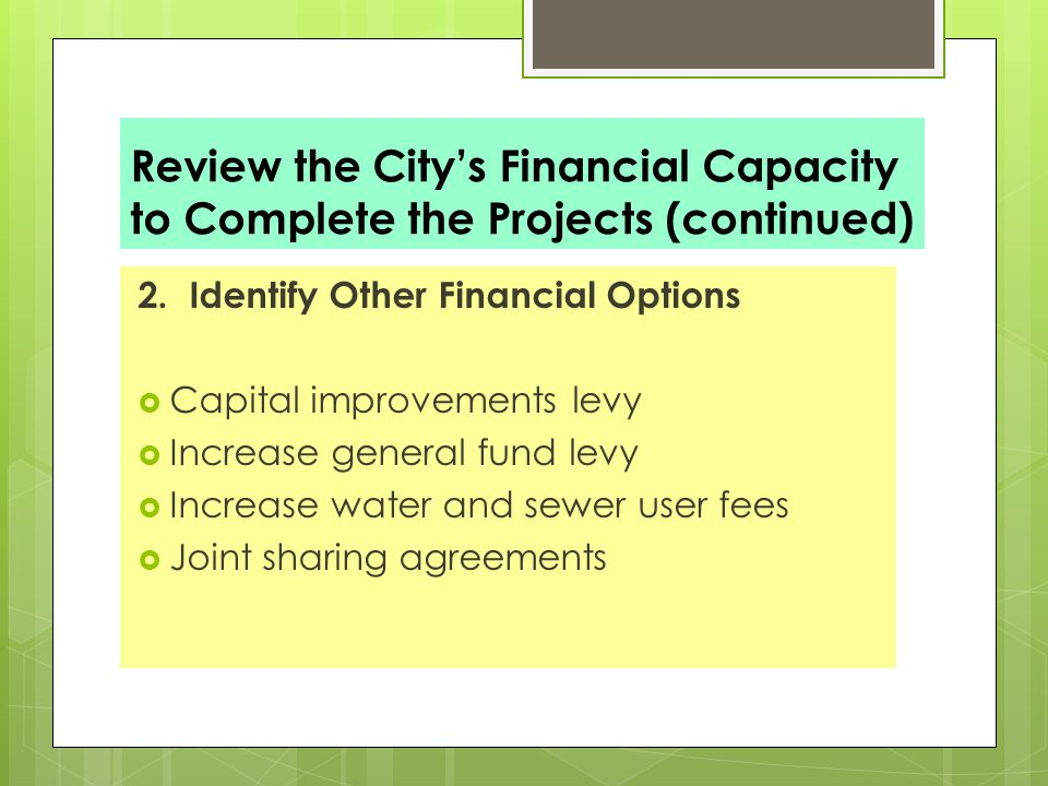 Capital improvements planning fn 401 mpi patrick callahan municipal 39 review malvernweather Choice Image