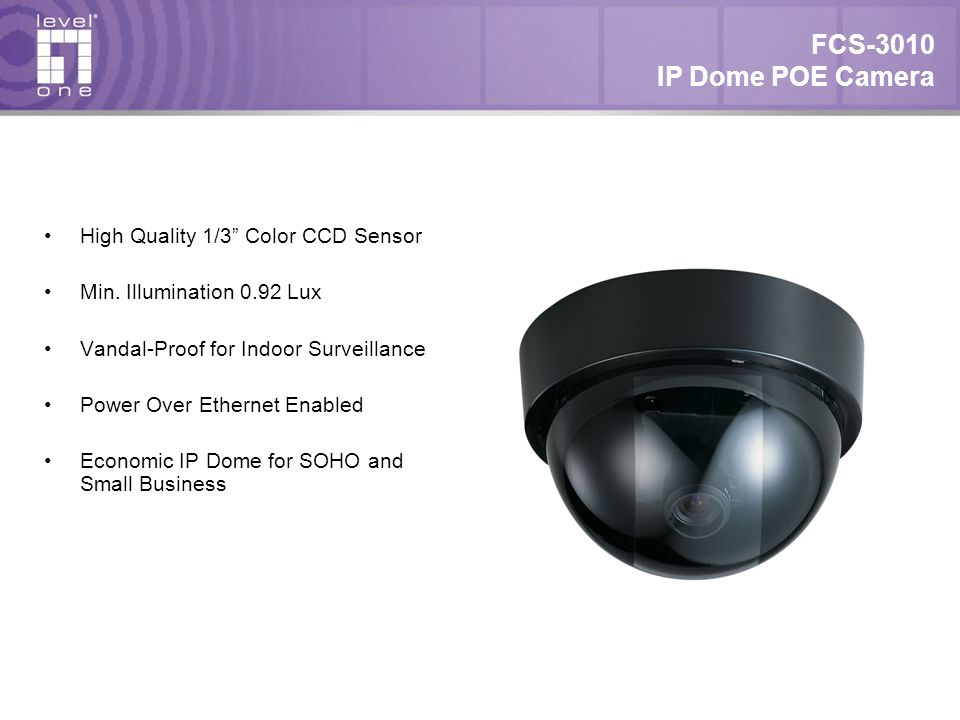 FCS-3010 IP Dome POE Camera High Quality 1/3 Color CCD Sensor Min.