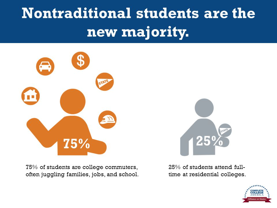 Nontraditional students are the new majority.