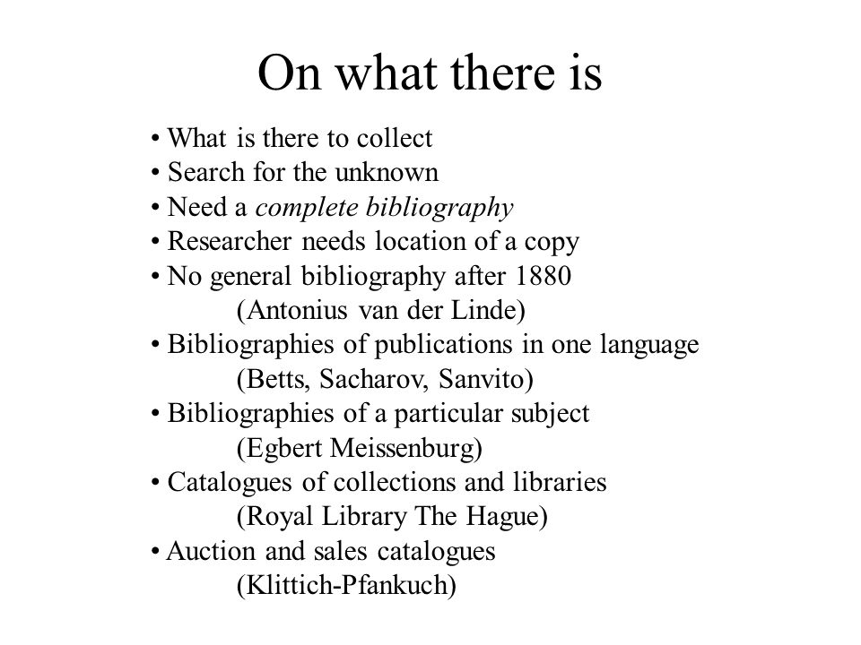 A Complete Bibliography of Publications in Berichte zur