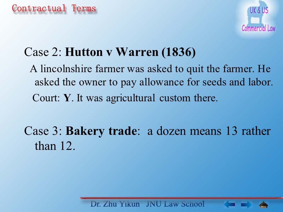 hutton v warren 1836