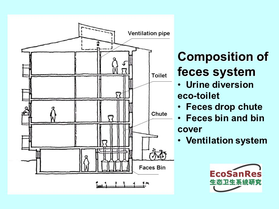 5 Composition Of Feces System Urine Diversion Eco Toilet Drop Chute Bin And Cover Ventilation