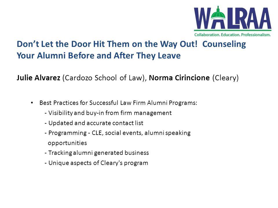 2013 NALP Conference Recap Sheila Driscoll - GW Law Lauren