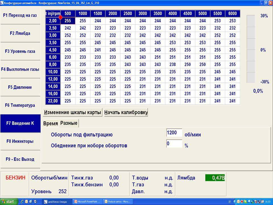 landirenzo software omegas 2010 24
