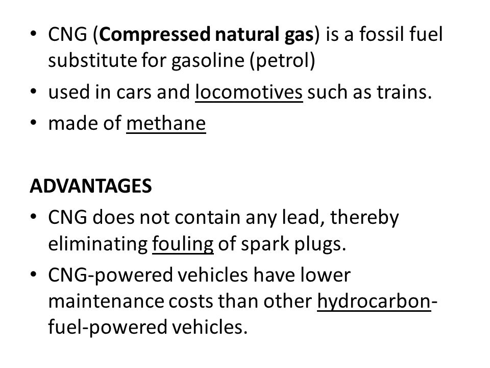 Cng Compressed Natural Gas Is A Fossil Fuel Subsute For Gasoline Petrol