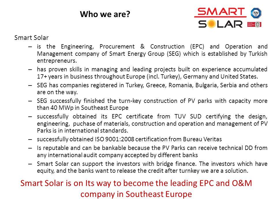 Smart Solar – is the Engineering, Procurement & Construction