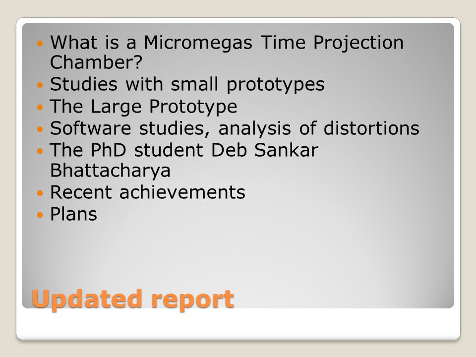 Research and development of Micromegas detector and related devices (Project N° ) Updated progress report and extension request P.