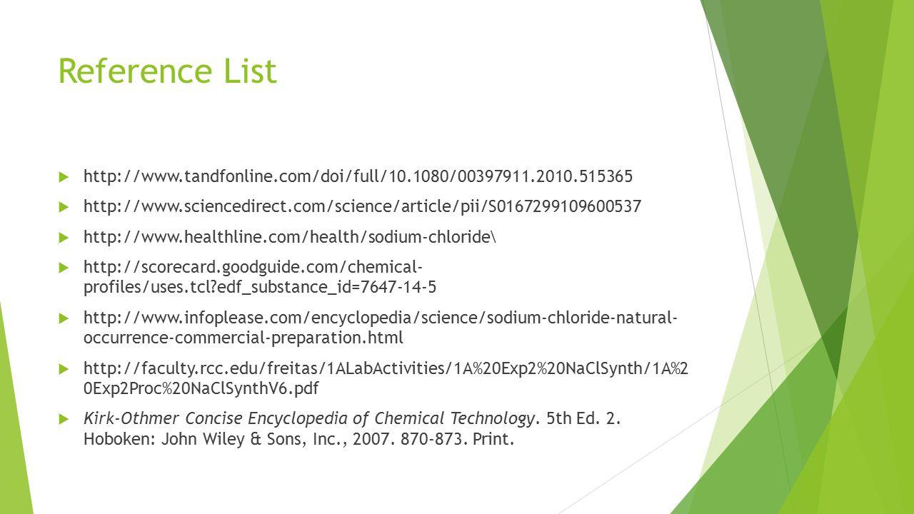 Sodium Chloride Process Brian Meeuwsen & Katie Neta  - ppt download