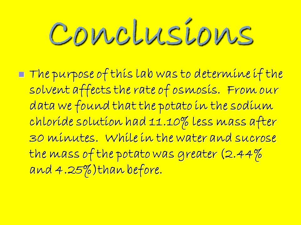 potato osmosis lab conclusion