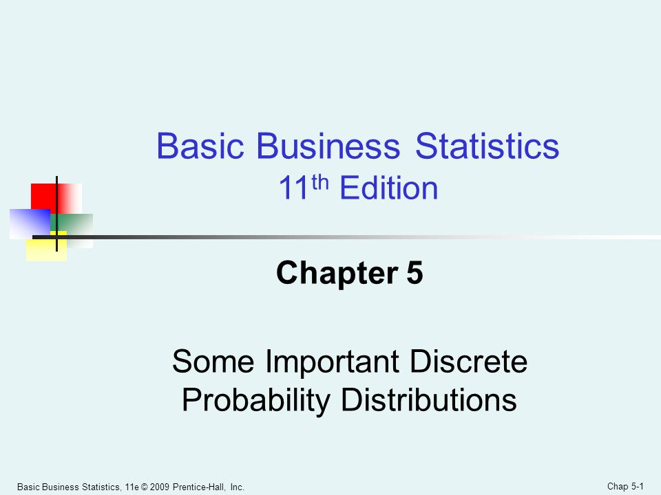 Basic Business Statistics, 11e © 2009 Prentice-Hall, Inc.