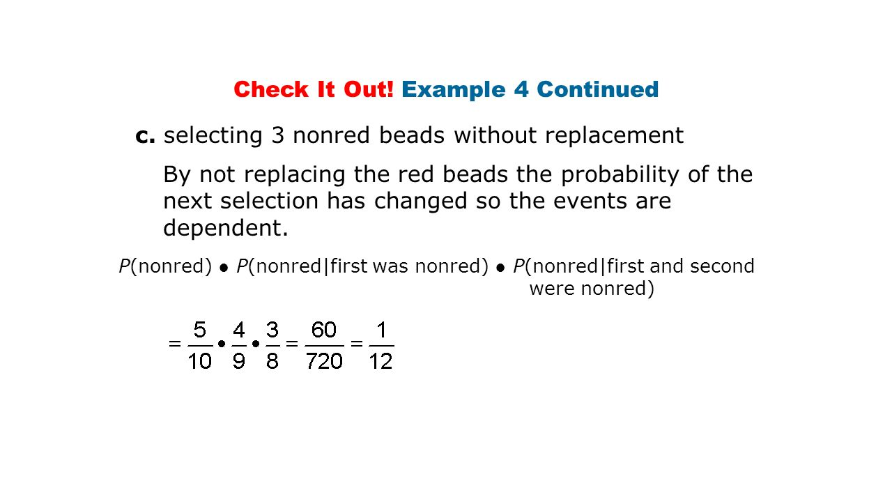 Check It Out. Example 4 Continued c.