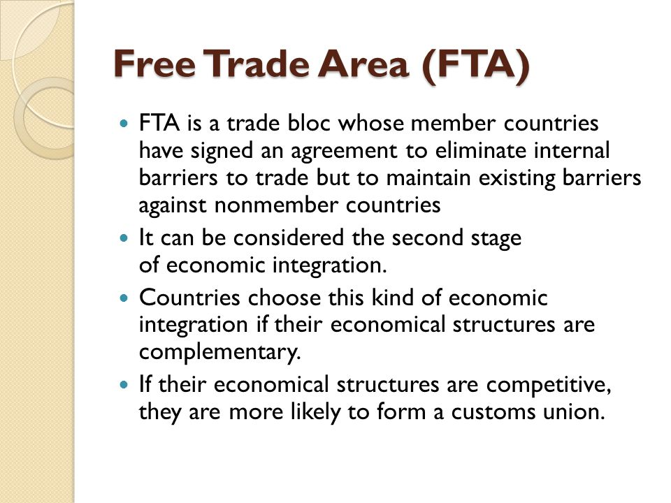 Trade Agreement Preferential Trade Agreement Pta Custom Union