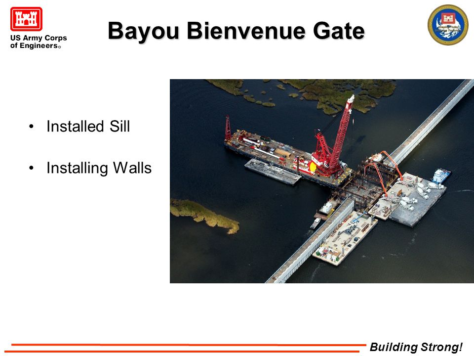 Building Strong! Bayou Bienvenue Gate Installed Sill Installing Walls