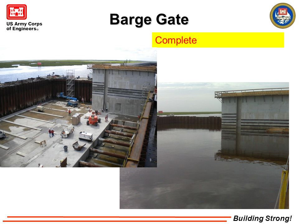 Building Strong! Barge Gate Complete