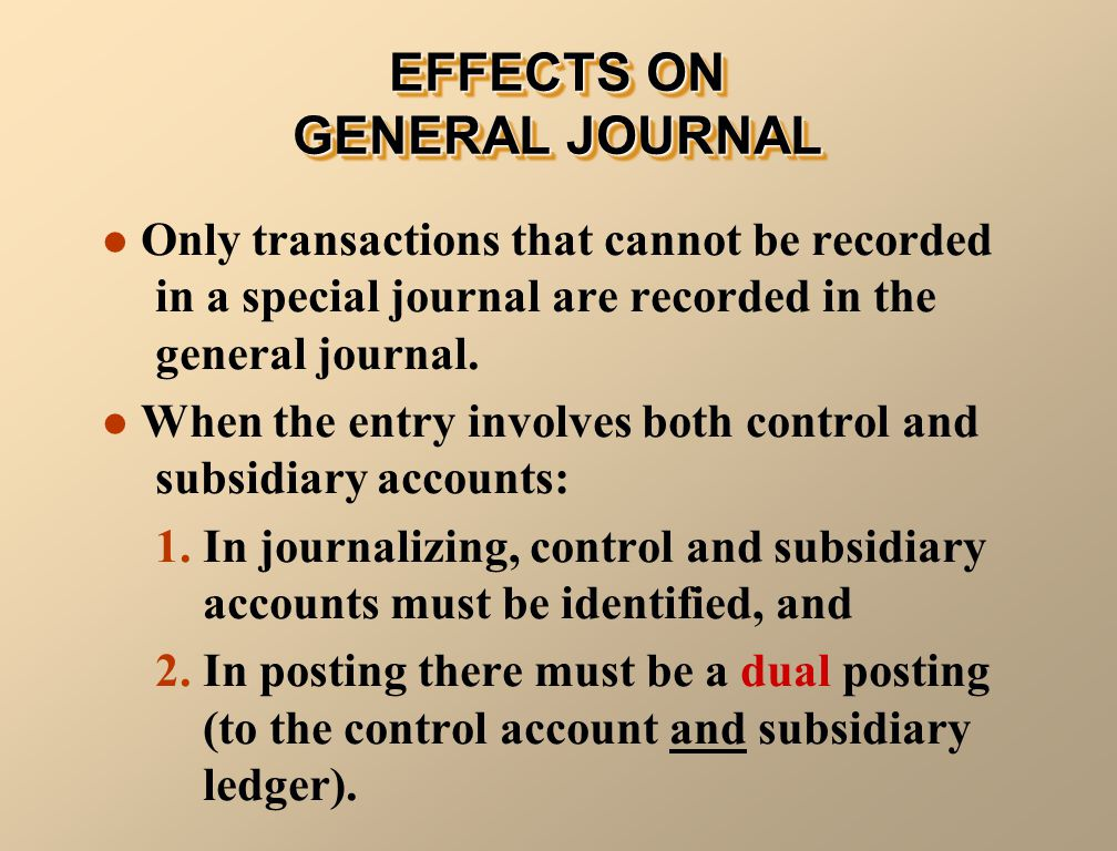 Only transactions that cannot be recorded in a special journal are recorded in the general journal.