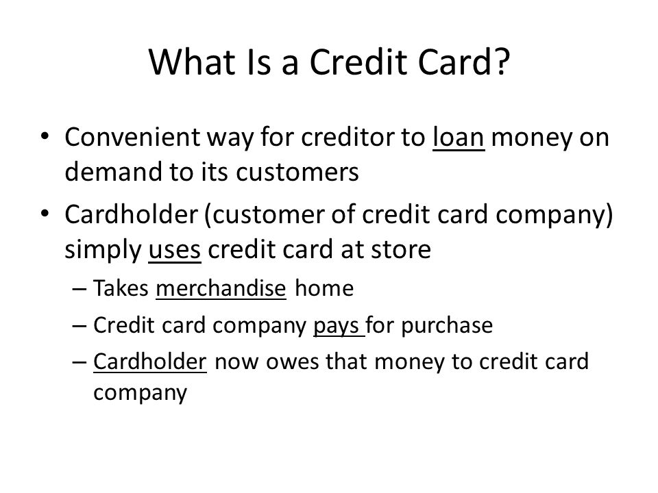 What Is a Credit Card.